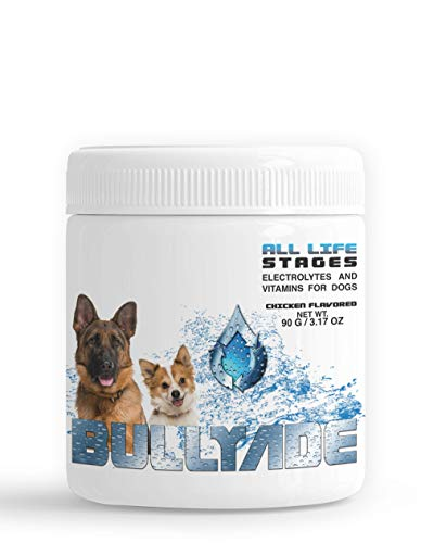 Bullyade Natural Dog Supplement 3.17oz with 18 Vitamins & Minerals. Replenishes Electrolytes Fast, Safe Recovery from Parvo, Illness and Dehydration. Mixes with Water or Food. (Chicken)