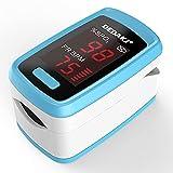 LIALIYA Monitor de saturación de oxígeno del oxímetro de Pulso, para el Nivel de Pulso y el Nivel SPO2, la Pantalla del oxímetro de los monitores de oxígeno de la Sangre de la Sangre