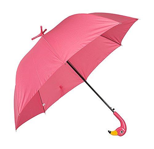 Regenschirm Flamingo mit Standfuß ca Ø 96 Schirm Automatik Stockschirm Regen