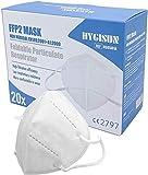 Mund und Nasenschutz [20x] FFP2 Maske - DEKRA geprüfte Mundschutz Maske einweg Atemmaske, Maske EINZELVERPACKT, Atemschutzmaske ohne Ventil FFP2 Mundschutz
