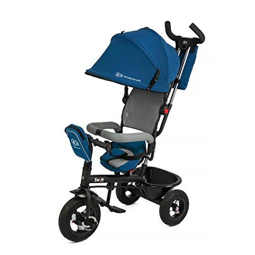KinderKraft Niño Fuerza Swift 6in1Triciclo para niños con Accesorios en 2Colores (Azul)