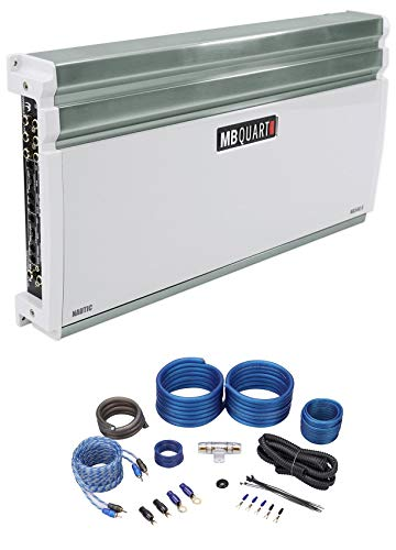 MB QUART NA540.6 540w RMS 6-Channel Nautic Series Marine Boat Amplifier+Amp Kit