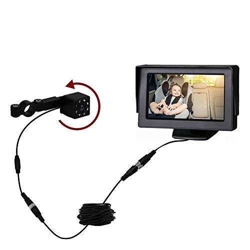 Phayee Monitor de bebé con cámara, Espejo de Asiento Trasero de Coche bebé, Visor de Asiento de Seguridad de bebé para Coche, cámara de Seguridad de visión Nocturna por Infrarrojos
