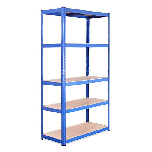 G-Rack - Estanterías de garaje, 5 compartimentos, Azul, 180 x 90 x 45cm, Capacidad 875 kg