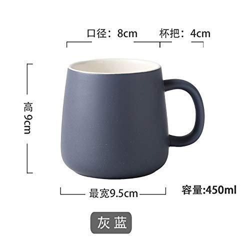 HRDZ - Taza de café de cerámica de gran capacidad para pareja