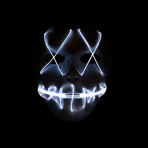 SUNREEK Halloween Scary Mask, Halloween Cosplay Led Costume