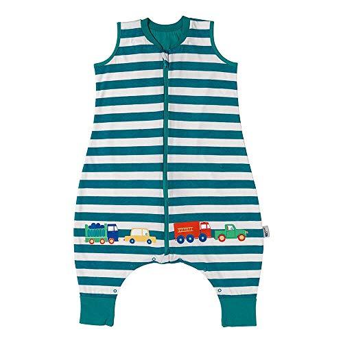 Schlummersack Baby Schlafsack mit Füßen Sommer 0.5 Tog 70 cm dünn Autos   Schlafsack mit Beinen ungefüttert für eine Körpergröße von 70-80cm   Schlafsack Baby Sommer