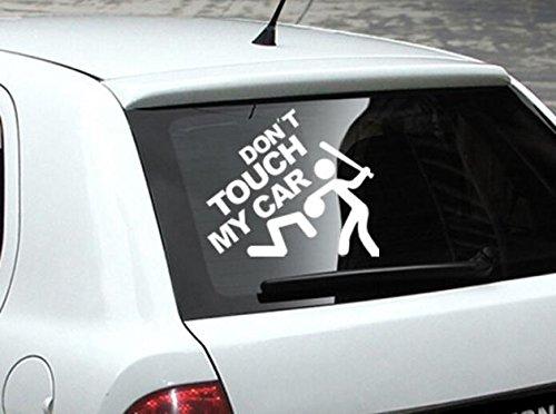 Pwtchenty Berühren Sie Nicht Mein Auto Autoaufkleber Lustige Sprüche Decal Autoaufkleber Aufkleber Auto Tuning Sticker Set Marken