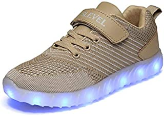 SLEVEL LED Light Up Shoes Flashing Sneakers for Kids Boys Girls