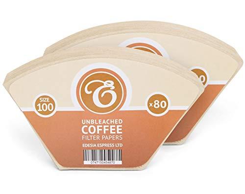 EDESIA ESPRESS - 160 filtres à café coniques - en papier non blanchi - pour Melitta Aromaboy - taille 100