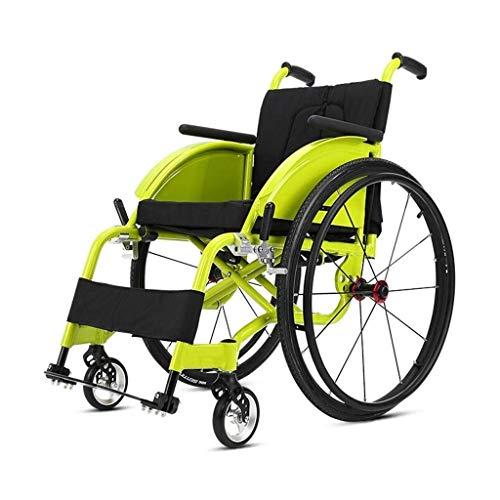 MU Rollstuhl-Sport Und Freizeit, Motorroller Tragbarer Superleichtgewicht Mit Quick Reifenentfernung Bequemen Kissen Federung Reifen-Rad-Legierung Druck