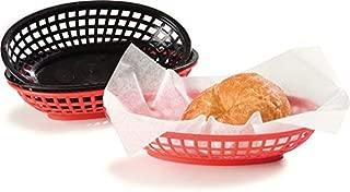 Carlisle 033305 Polyethylene Oval Bread and Bun Basket, 9-1/4