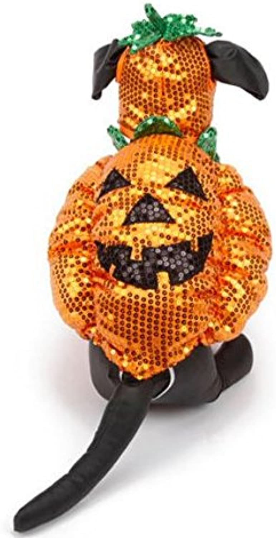 Sequin Pumpkin Dog Halloween Costume Medium by Be Good