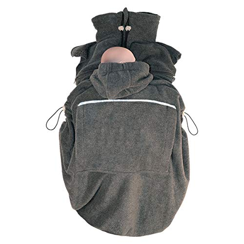 Hoppediz - Cobertor bufanda para portabebés, color antracita