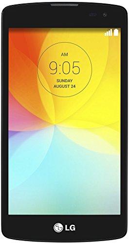 LG L Fino Smartphone (11,4 cm (4,5 Zoll) IPS-Bildschirm, 1,2-GHz-Quad-Core-Prozessor, 8-Megapixel-Kamera, Micro-SIM, 4 GB interner Speicher, Android 4.4) schwarz