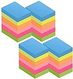 Fogli autoadesivi 2400 fogli, note autoadesive da 51 x 38 mm con 6 colori, 100 fogli per blocchetto per memo, messaggi, richiami, 24 blocchi