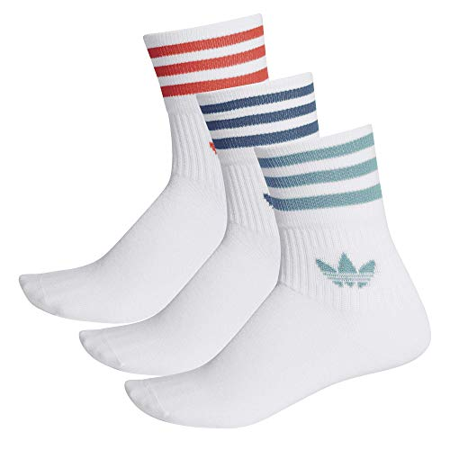 Adidas Mid Cut Crew Socks Socken 3er Pack (39-42, white)