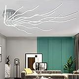Lamparas de Techo Salon,Lamparas de Techo Modernas,138W 10-Lights Modernas led Salon Dormitorio Lamparas de Techo Regulable con Control Remoto 3000K-6500K Temperatura de Color Adjustable
