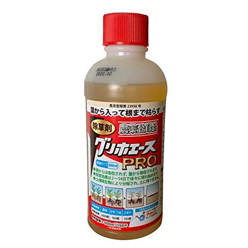ハート(Heart) 除草剤 グリホエース PRO 500ml 20本 - 葉から入って根まで枯らす除草剤
