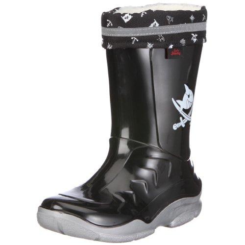 Capt'n Sharky Jungen 120030 Gummistiefel, Schwarz (schwarz/silber), 25 EU