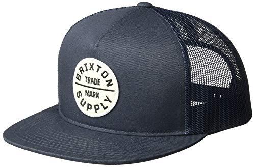Brixton Herren Messer Medium Brim Felt Fedora Hat Baseball Cap, Navy, Einheitsgröße