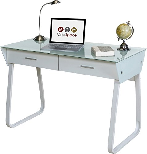 OneSpace Ultramodern Glass Computer Desk with...