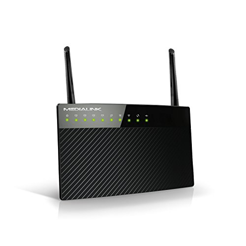 Medialink AC1200 Wireless Gigabit Router - Gigabit (1000 Mbps) Wired Speed & AC 1200 Mbps Combined Wireless Speed (Part# MLWR-AC1200R)