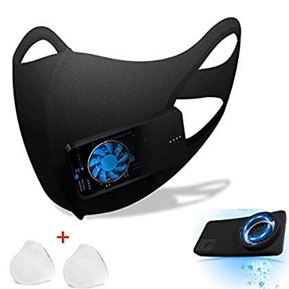 Protector facial inteligente eléctrico, protector Purificador de aire deportivo reutilizable Ambientador Respiración…