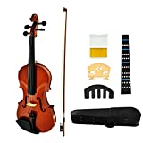 JUAREZ Legnò Violin Kit, Full Size 4/4 Hand-Carved Solid Spruce Top, Solid Maple