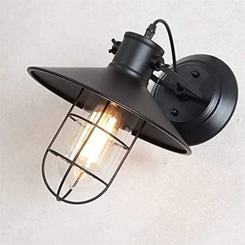 Lámpara De Pared Rústica Accesorio Industrial Escalera Retro Pasillo Lámpara De Pared Creativa Personalidad Hierro Lámpara De Noche Sencillo American Ave Pájaro Lámpara De Pared (Color : B)