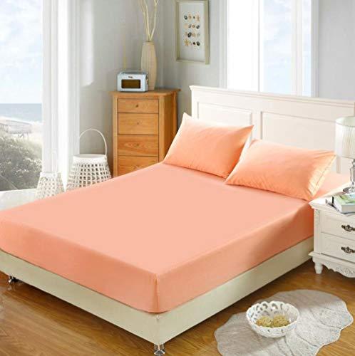 KIrSv Protector de colchón,Las sábanas de algodón King-fit para el apartamento de Las niñas y el Protector de colchón Doble extraprofundo Son los Mejores Regalos para los Amigos-F_180x220+25cm