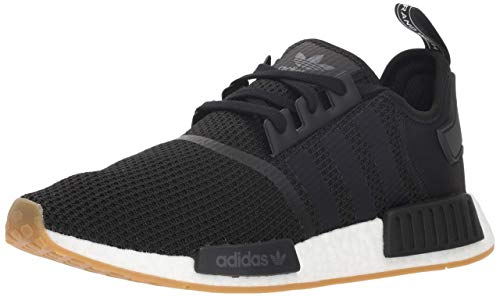 adidas Originals mens Nmd_r1 Sneaker, Black/Black/White, 8.5 US