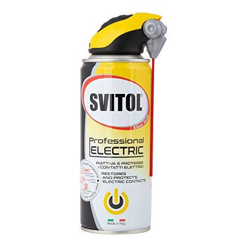 Svitol Lubrificante Professional Electric 400 ml Spray lubrificante per contatti elettrici, erogatore con cannuccia, riattiva conducibilità elettrica, anti-ossidante, valvola 360°, professionale