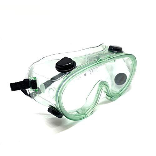 Gafas protectoras con válvulas EasyBreathe, antivaho, montura de material suave. Lentes antiarañazos, antigolpes, antisalpicaduras, antipolvo, antiviento.