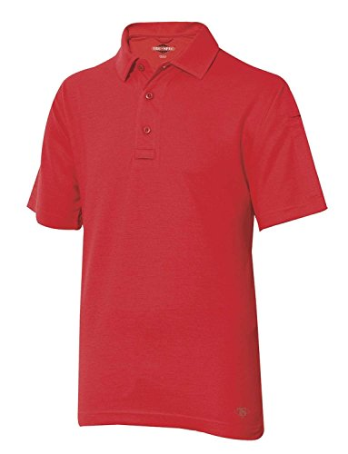 TRU-SPEC Men's 24-7 Series Short Sleeve Polo Shirt, Range Red, Large