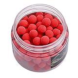 LJSLYJ Geruch Pop Up Karpfenangeln Köder Floating Ball Perlen Feeder Künstliche Karpfen Köder Locken für Salzwasser Süßwasserfischen (rot, 8mm)