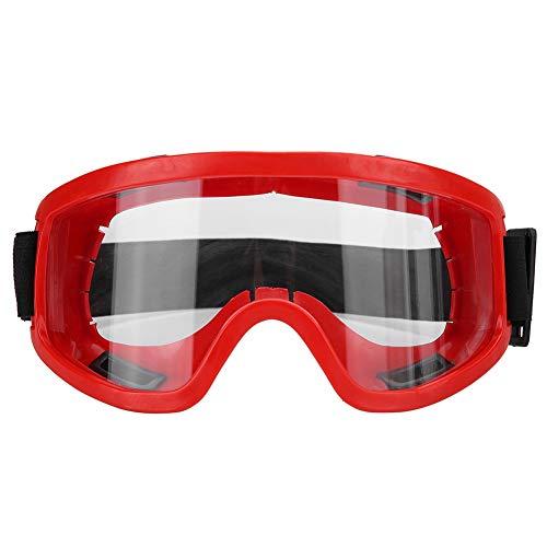 Wodend Schutzbrille, Wind- und schlagfeste Sportbrille aus neuem PC, zum Skifahren geeignet. Motorrad-Augenschutz(rot)