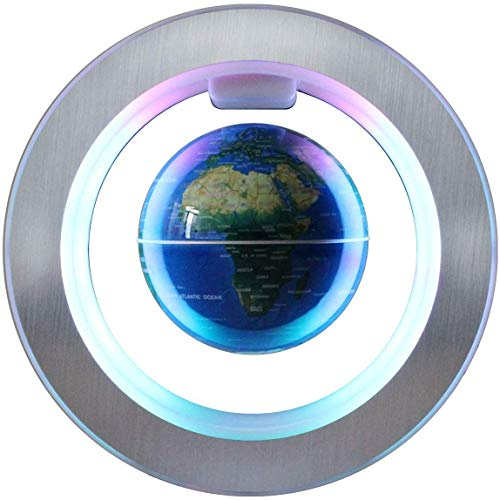 Nfudishpu Magnetic Levitation Floating Globe - 4 Inches Levitating O Shape Globe for Children Educational Gift Home Office Desk Decoration