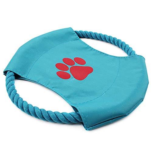 SZFREE Hundefrisbee, Hundeflugscheiben-Frisbee für Hunde, weicher und Kleiner Hundefrisbee, Hund, der Frisbee-Spielzeug spielt, Fliegender Hundefrisbee mit Baumwollseil-Segeltuch-Frisbee
