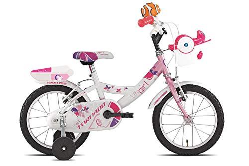 TORPADO Bici T681 Lilly 14'' Bimba 1v Bianco Rosa (Bambino)
