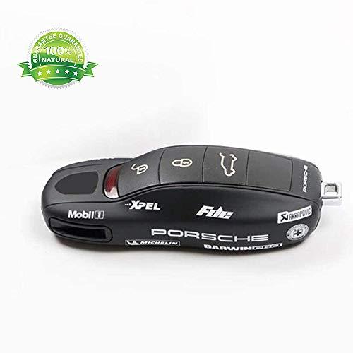 GuoYq Porsche Schlüssel Gehäuse Fernbedienung,Autoschlüsselschale Tasten Smart Key Autoschlüssel Compatible Porsche 911 Und 718 Cayenne Panamera Macan Cayman Boxster