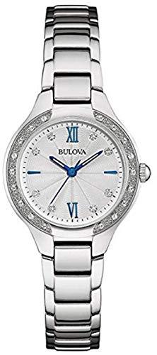 Bulova Reloj Analógico para Unisexo de Cuarzo con Correa en Acero Inoxidable 96R208