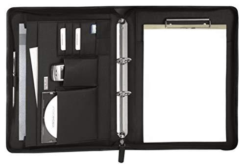 Bodenschatz Schreibmappe schwarz Leder DIN A4