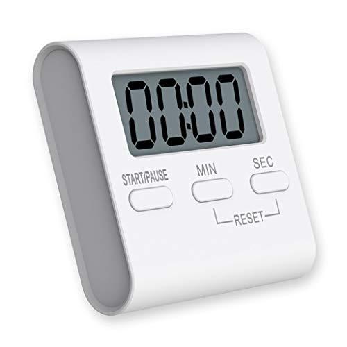 Barrières de lit Temporizador Digital electrónica Cocina con Cuenta atrás Magnético Temporizador para cocinar, repostería,barbacoas (Color : White)
