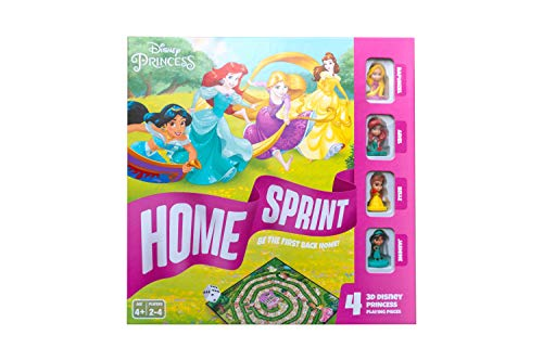 Disney Princess Home Sprint Board Game for Kids Age 4 Years Old +, Mul