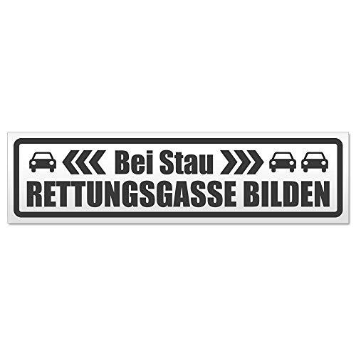 Kiwistar bei Stau Rettungsgasse bilden Hinweis Aufkleber Sticker laminiert wetterfest