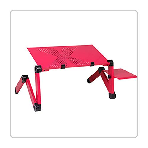 Aiglen Folding table Laptop Table Stand Adjustable Folding Design Stand Computer Desk for Netbook Tablet with Mouse Pad Office Furniture
