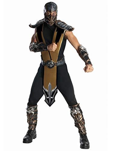 Rubie's Herren Mortal Kombat Deluxe Scorpion Costume Kostüme für Erwachsene, Mehrfarbig, Einheitsgröße