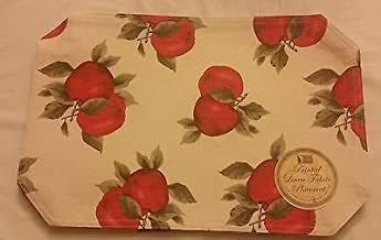 The Pecan Man Terry Everyday Kitchen Couple Apples Placemats Set of 4
