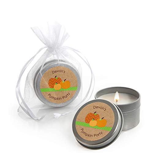 Purchase Big Dot of Happiness Custom Pumpkin Patch - Personalized Candle Tin Fall, Halloween or Than...